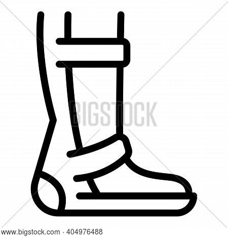 Rehabilitation Foot Icon. Outline Rehabilitation Foot Vector Icon For Web Design Isolated On White B