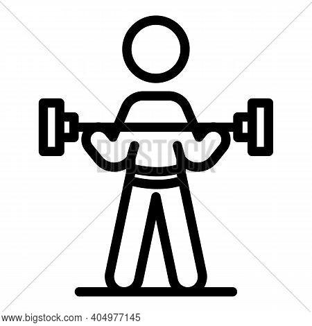 Physical Rehabilitation Dumbbell Icon. Outline Physical Rehabilitation Dumbbell Vector Icon For Web