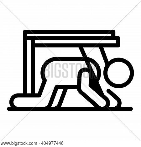 Hard Rehabilitation Icon. Outline Hard Rehabilitation Vector Icon For Web Design Isolated On White B