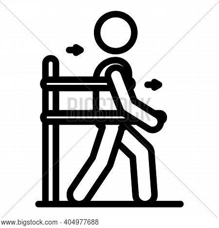 Training Rehabilitation Icon. Outline Training Rehabilitation Vector Icon For Web Design Isolated On