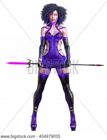 3D Assassin Warrior Amazon Woman Render.
