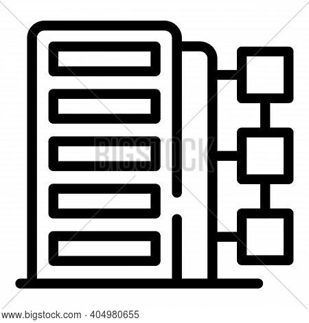 Customer Database Infrastructure Icon. Outline Customer Database Infrastructure Vector Icon For Web