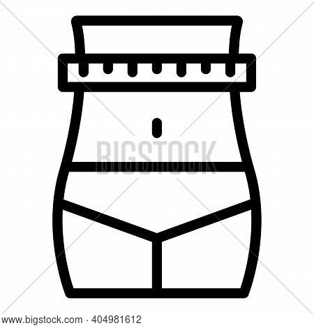 Measure Slimming Icon. Outline Measure Slimming Vector Icon For Web Design Isolated On White Backgro