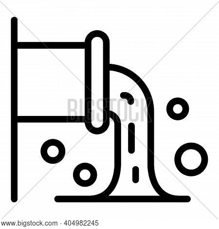 Pipe Waste Icon. Outline Pipe Waste Vector Icon For Web Design Isolated On White Background