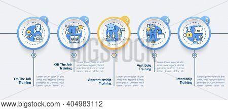 Staff Development Methods Vector Infographic Template. Apprenticeship Training Presentation Design E