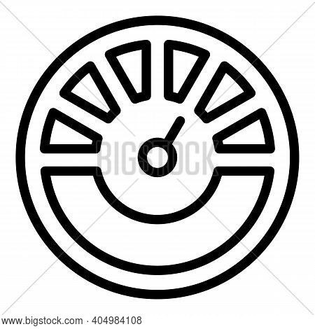 Car Dashboard Gauge Icon. Outline Car Dashboard Gauge Vector Icon For Web Design Isolated On White B