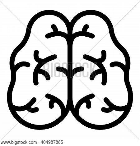 Neuron Brain Icon. Outline Neuron Brain Vector Icon For Web Design Isolated On White Background