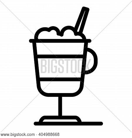 Foam Latte Icon. Outline Foam Latte Vector Icon For Web Design Isolated On White Background