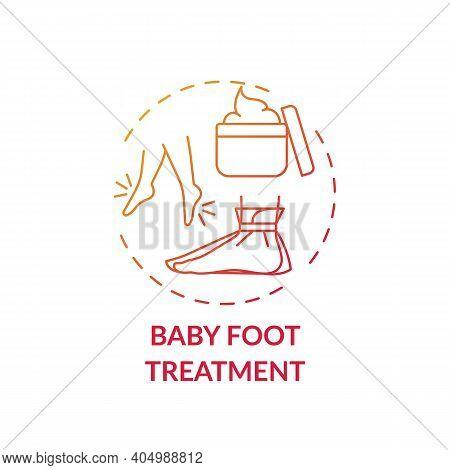 Baby Foot Treatment Concept Icon. Home Beauty Procedure Idea Thin Line Illustration. Pre-soaked Plas