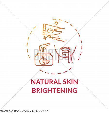 Natural Skin Brightening Concept Icon. Home Spa Idea Thin Line Illustration. Moisturizing Skin. Bala