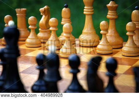 The Beginning Of The Chess Game - The White Pawn Begins