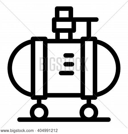 High Pressure Compressor Icon. Outline High Pressure Compressor Vector Icon For Web Design Isolated