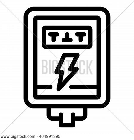 Energy Junction Box Icon. Outline Energy Junction Box Vector Icon For Web Design Isolated On White B