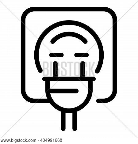 Socket Icon. Outline Socket Vector Icon For Web Design Isolated On White Background