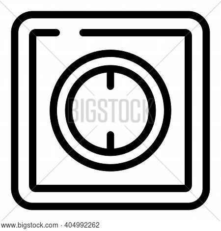 Energy Socket Icon. Outline Energy Socket Vector Icon For Web Design Isolated On White Background