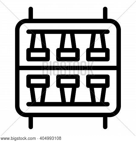 Electric Switchboard Icon. Outline Electric Switchboard Vector Icon For Web Design Isolated On White