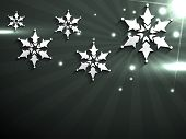 stylish merry christmas vector background poster