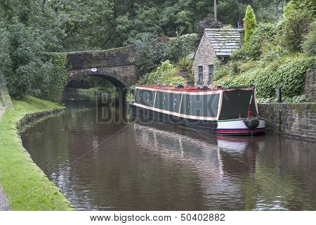 Barge On Huddersfield Canal