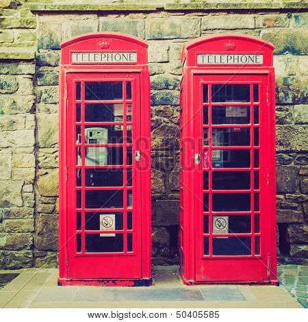 Vintage Look London Telephone Box