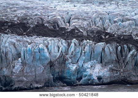 Death Of A Glacier At The Ice Ocean