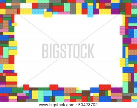 Toy Bricks Picture Frame