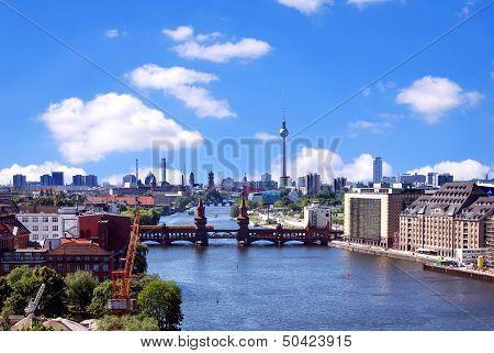 Aerial Photo Berlin Skyline