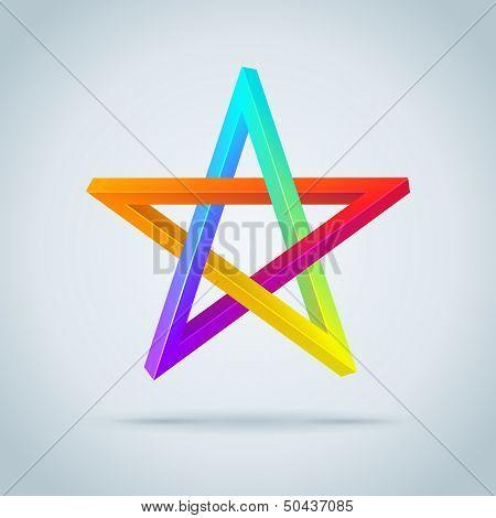 Colorful Inconceivable Pentagram.