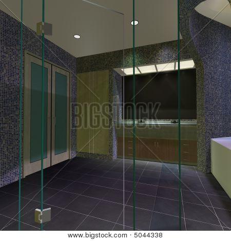 Modern House-master Bathroom