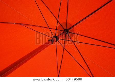Red umbrella background