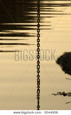 Chain Reflected In Water