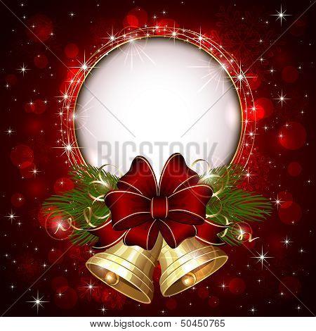 Gold Christmas bells