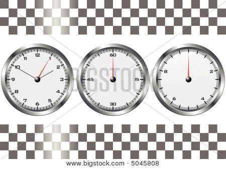 weiße Uhren und chronos