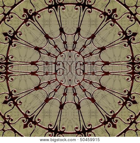 Art Deco Window Mock-up Background