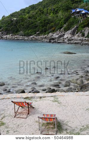 Quiet Ao Leuk Sandy Beach In Thailand