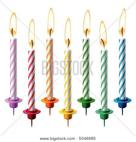 Birthday Candles. Vector.