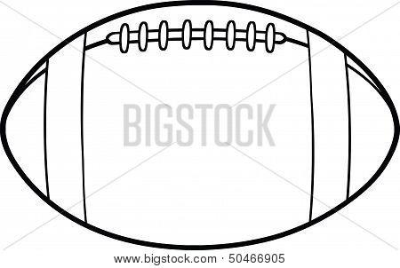 Black And White American Football Ball