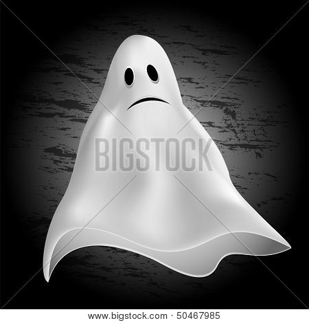 Halloween background.ghost on a dark background.halloween party.vector poster