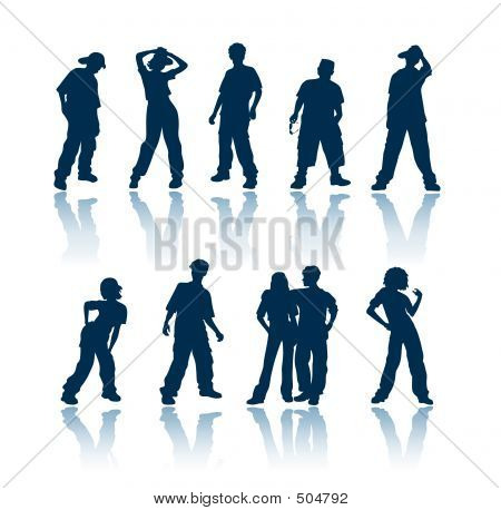 Teenagers Silhouettes