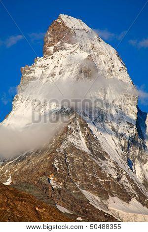 Famous mountain Matterhorn (peak Cervino) on the swiss-italian border poster