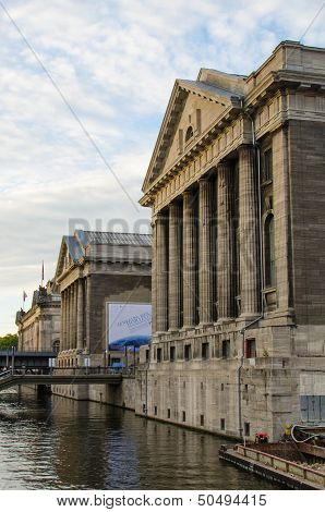 Main Facade of the Pergammonmuseum in Berlin, Germany