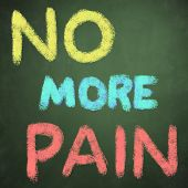 no more pain words on green chalkboard background poster