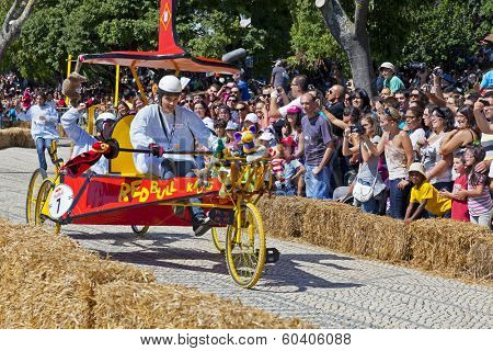 Lisbon, Portugal - September 09, 2011: Lisbon Red Bull Soapboax Race - 2 Grande Premio Red Bull - A Corrida Mais Louca do Mundo.