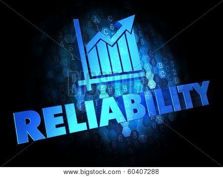 Reliability Concept on Dark Digital Background.