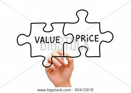 Value Price Puzzle Concept