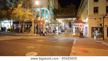 SAN FRANCISCO,USA - OCT 07: Chinatown in San Francisco on October 07, 2011 in San Francisco, CA. The Chinatown, centered on Grant Avenue and Stockton Street in San Francisco, California.