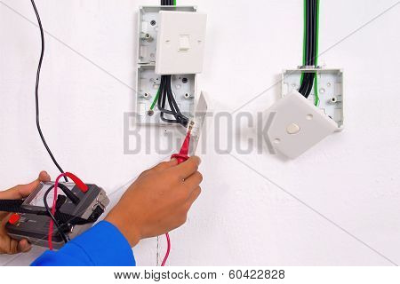Electrician Are Making The Testing