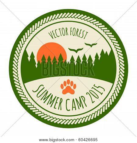 Vintage Summer Camp Sticker