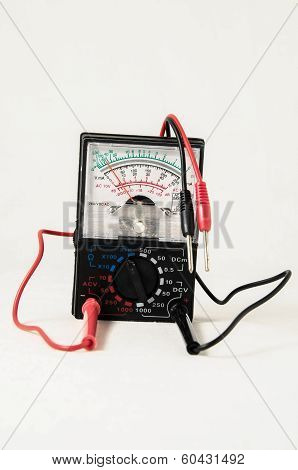 Classic New Electricity Simple Tester Tool on a White Background poster