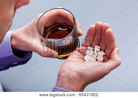 Suicide With Brandy And Pills