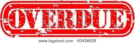 Grunge overdue rubber stamp, vector illustration